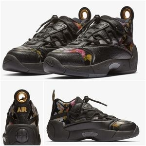 NIKE Air Swoopes II Women Shoes Black Floral Sz 7